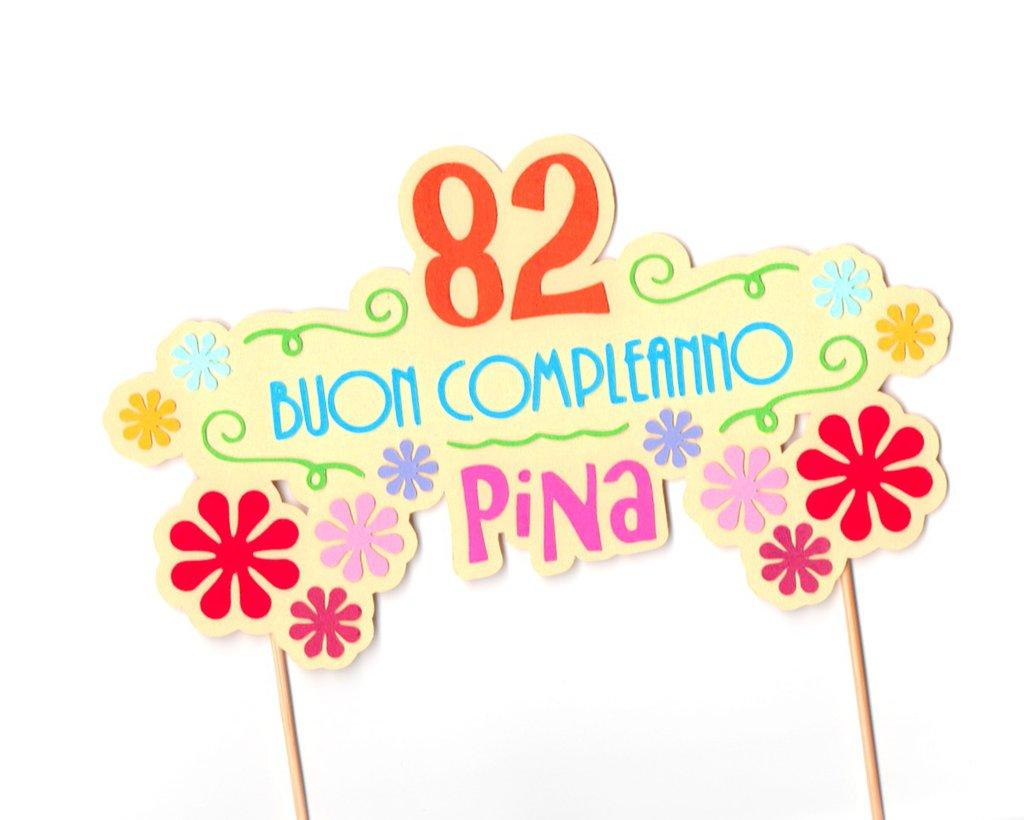 Cake topper Buon Compleanno Nonni