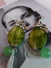 orecchini fiocco verde acido