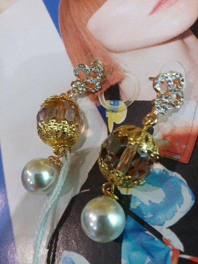 orecchini ambra dorati