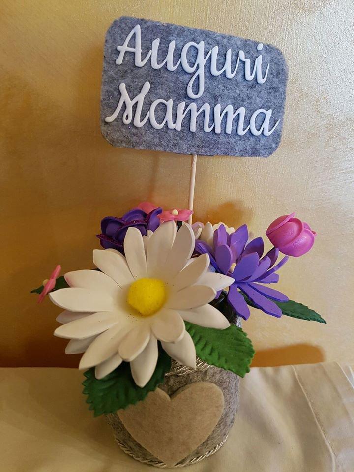 composizione fiori in vasetto