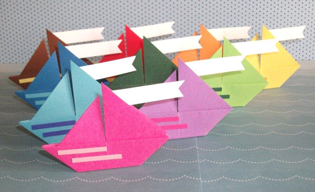 Barchette di Origami Segnaposto per ogni occasione^^
