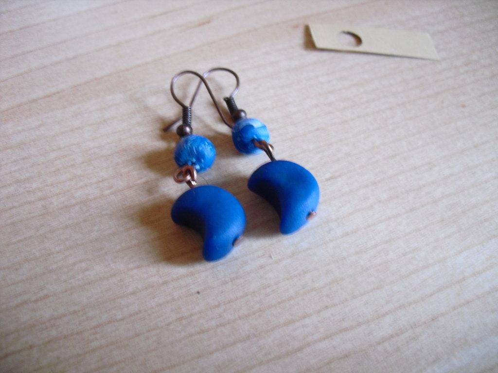 orecchini luna blu