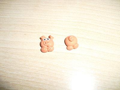 orecchini a perno maialino