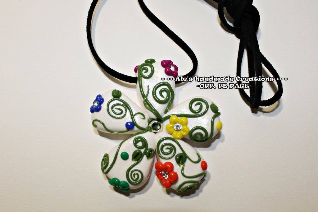 Collana in Fimo 'Flowers'