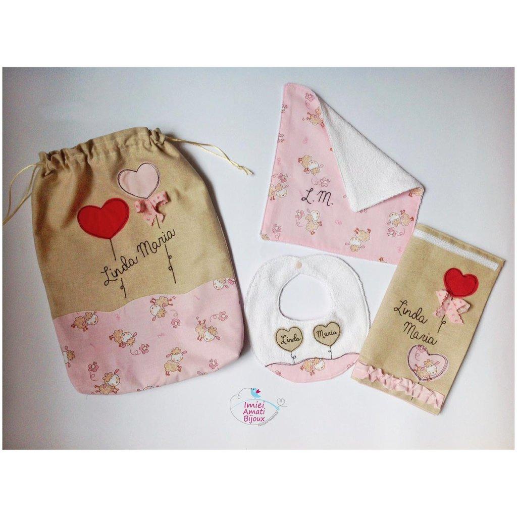 Set personalizzato da regalare ad un neonato