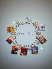 bracciale libri harry potter in pasta polimerica