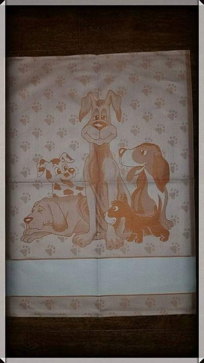 Asciugapiatti cotone fantasia cagnolini