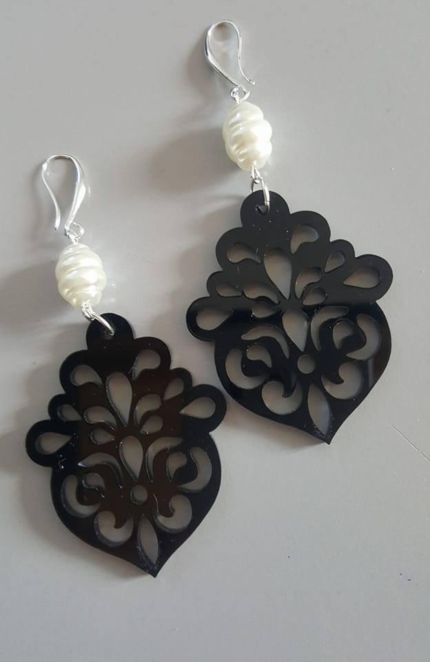 orecchini 'arabesque' - nero