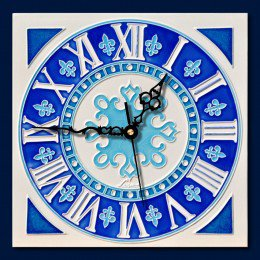 Orologio in ceramica Capri classico 20x20