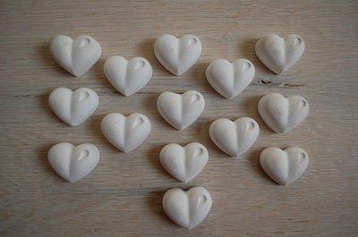 Cuoricini in gesso ceramico profumato
