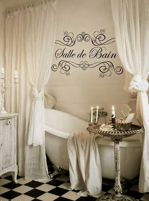 adesivo shabby chic per bagno salle de bain 1 metro per la casa e su misshobby. Black Bedroom Furniture Sets. Home Design Ideas