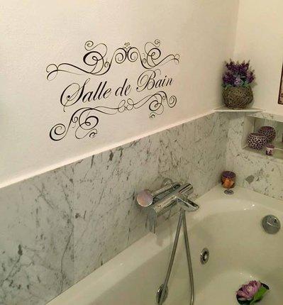 adesivo shabby chic per bagno salle de bain 1 metro per la casa e su misshobby. Black Bedroom Furniture Sets. Home Design Ideas