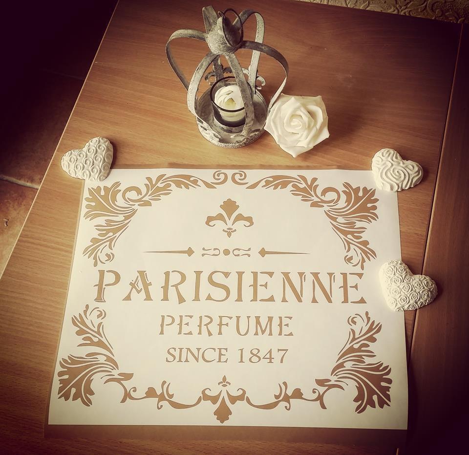Adesivo shabby chic PARISIENNE PERFUME