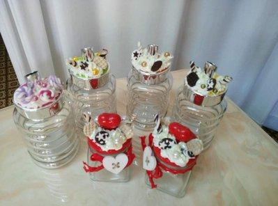 Zuccheriere in vetro decorate