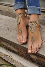 cavigliera sandali spiaggia uncinetto