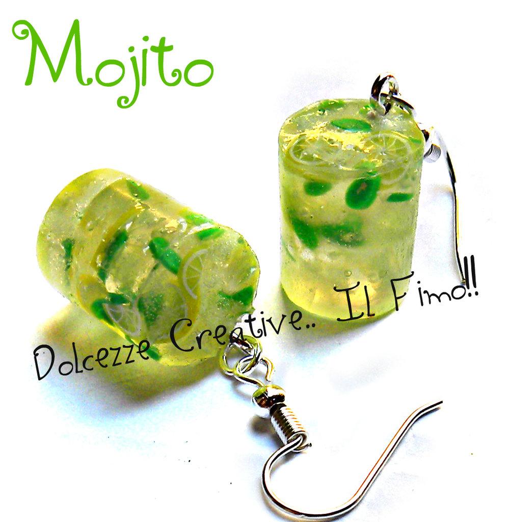 Orecchini Mojito - Cocktail - Drink - kawaii handmade