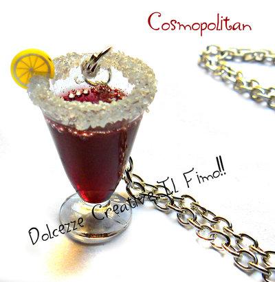 Collana Cocktail Cosmopolitan - handmade idea regalo barman - kawaii miniature