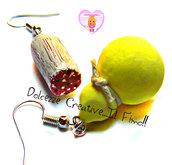 Orecchini miniature - Caciocavallo e salame - handmade kawaii sweet