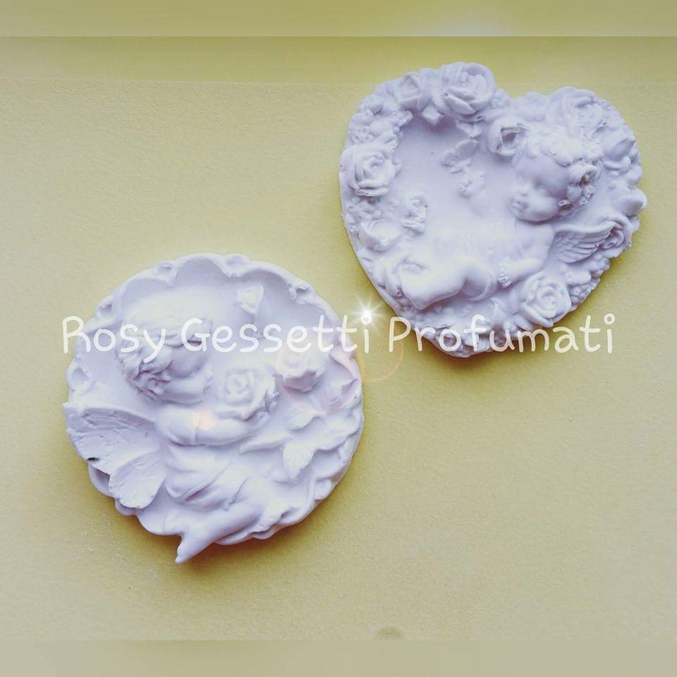 Angeli in gessetto profumato ceramico