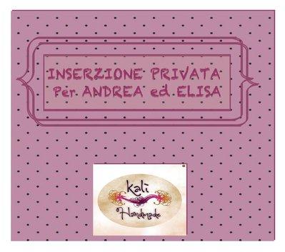 INSERZIONE PRIVATA PER ANDREA ed ELISA (2)
