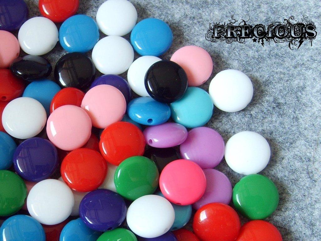 5 pz perline in acrilico tipo smarties