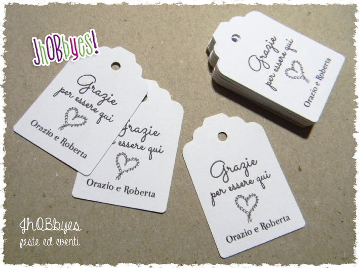 Bigliettini Matrimonio - tags wedding