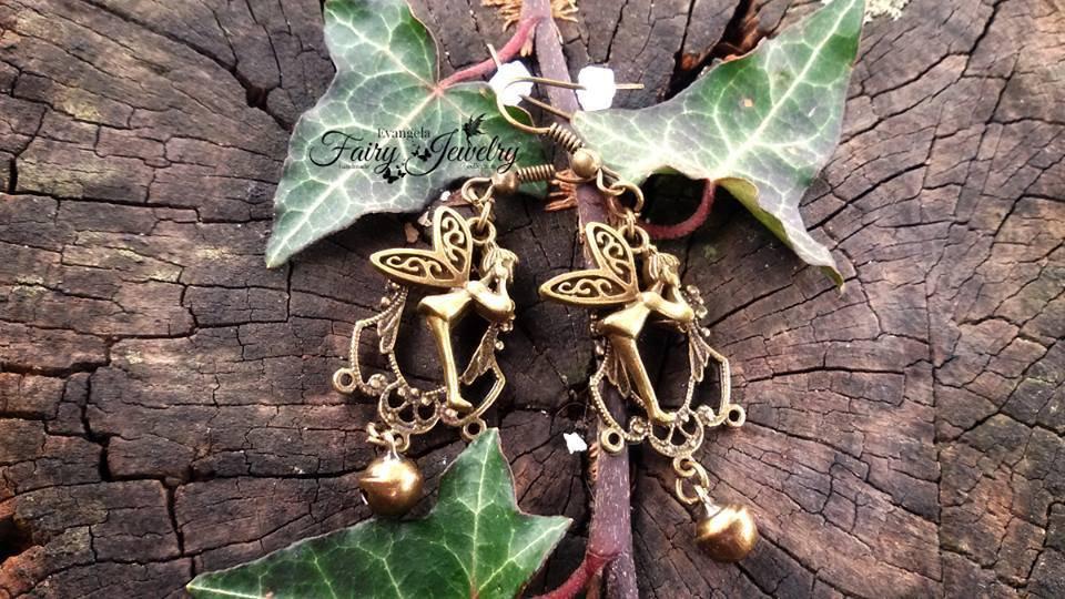 Orecchini pendenti bronzo trilly fata campanellino