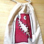 Sacchetta porta-scarpe Rossa e argento