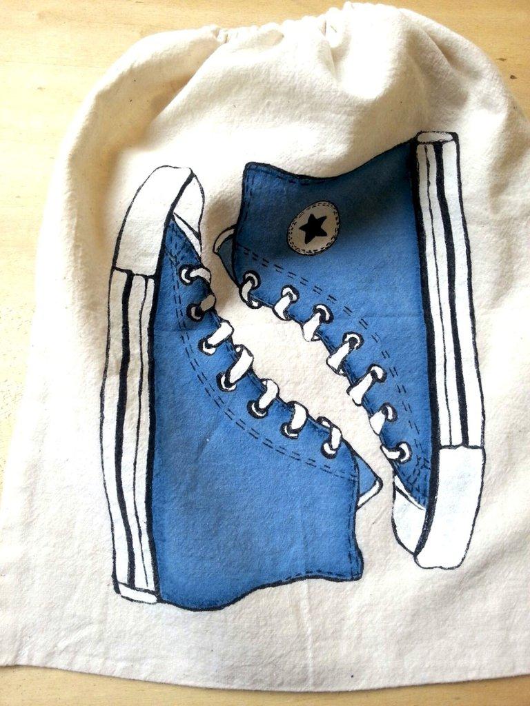 Sacchetta porta-scarpe Blu jeans