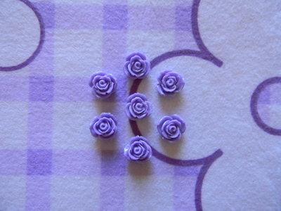 Perle a forma di Rosa lilla in lucite SIMIL CORALLO 5 pezzi 20mm circa