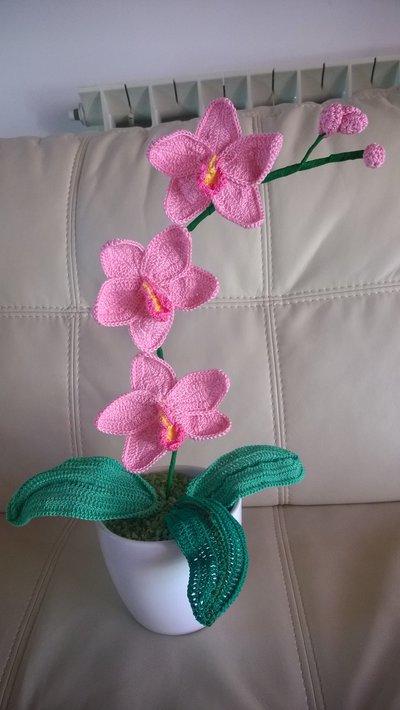 orchidee all'uncinetto da 10cm