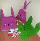 Sacchetto coniglietto Pasqua