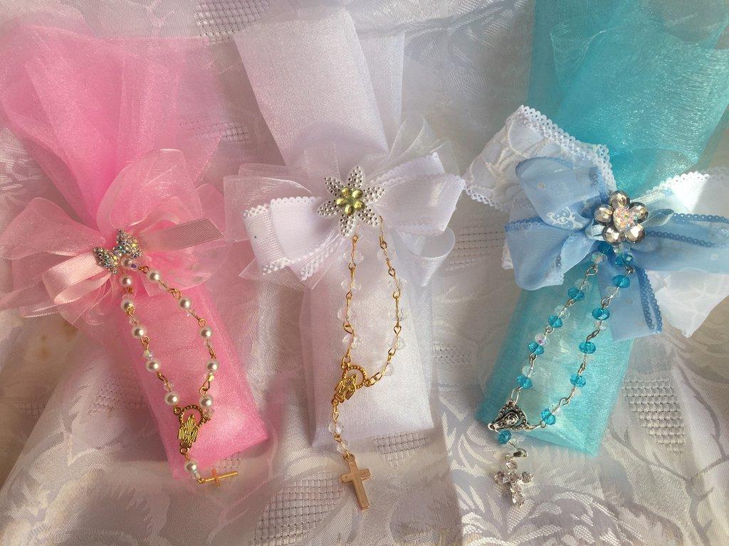 Sacchettino bomboniera con rosario