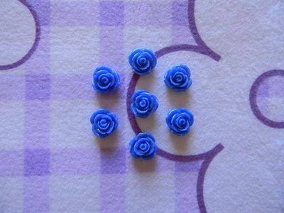 Perle a forma di Rosa blu in lucite SIMIL CORALLO 5 pezzi 20mm circa