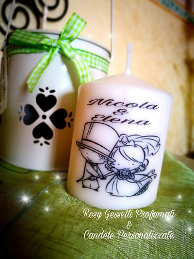 "Candele personalizzate ""wedding"""