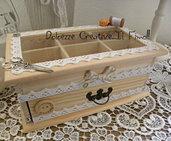 Scatola per cucito - Sarta - Idea regalo - Portacucito - Box, cofanetto, scatola handmade shabby chic