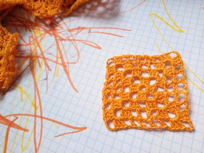 10 Piastrelle in filo di Scozia arancio