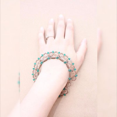 Wire Wrap BRACCIALI, smeraldo braccialetto, Verde