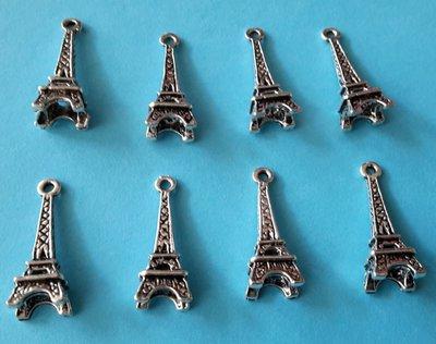 4 charms ciondoli 'Torre Eiffel'  argento tibetano