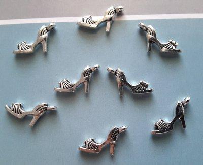 8 charms ciondoli 'scarpe estive tacco' argento tibetano