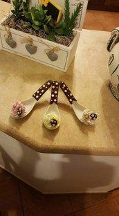 Cucchiai pandistelle dolciose sopprammobile