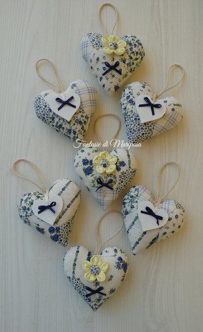 Cuori decorativi country - Bomboniera- Segnaposto-Idea regalo