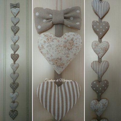 Striscia di cuori decorativi shabby -Idea regalo