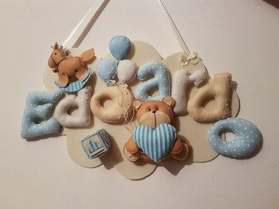 Nuvoletta in feltro per la cameretta del tuo bambino