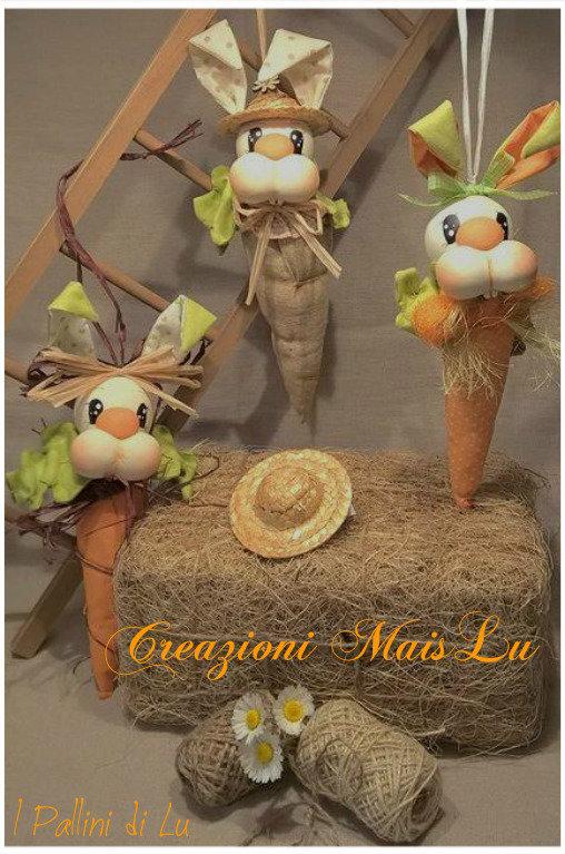 CarrotsBunny - Carote Coniglio decorative da appendere