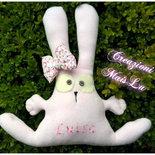 Coniglietto morbidoso personalizzabile