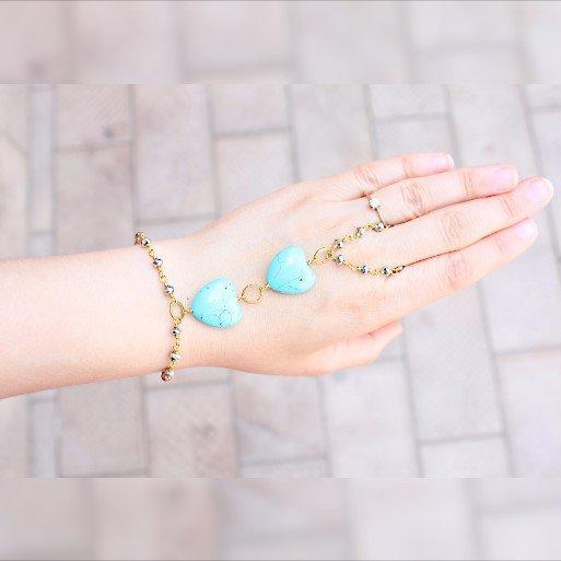 braccialetto schiavo Turchese, anello braccialetto