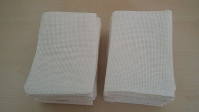 Inserzione riservata n. 20 sacchetti per confetti da ricamare a punto croce