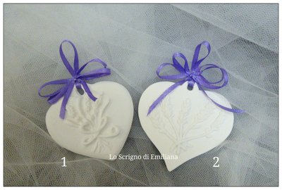 Segnaposto/Bomboniera gessetto profumato lavanda
