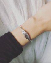 Bracciale rigido Piuma in argento 925